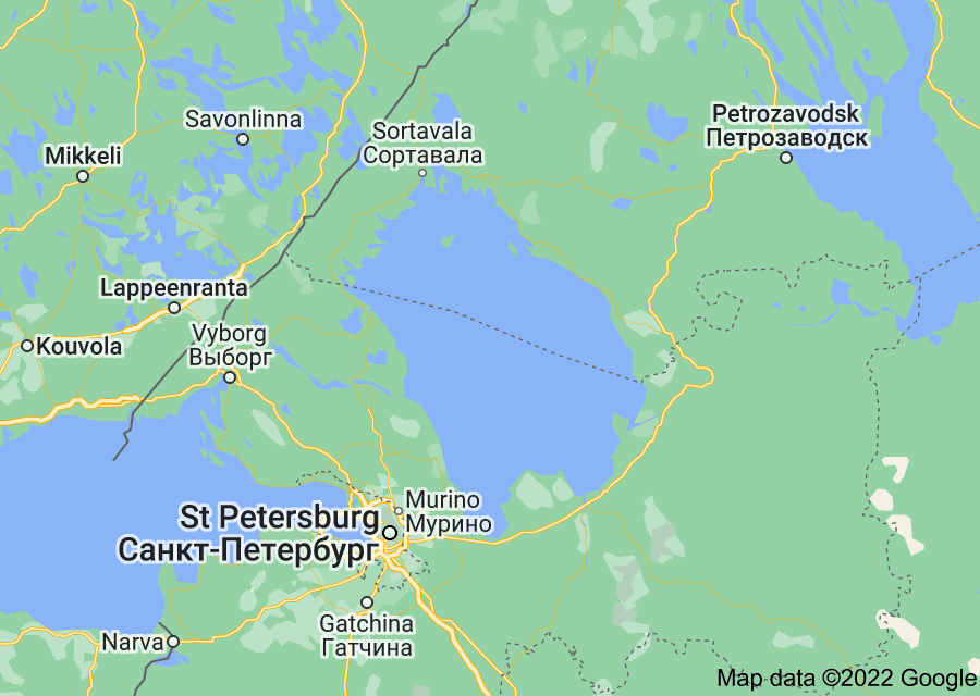 Location of Lake Ladoga
