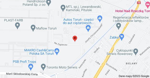 Mapa: Na Zapleczu 4, 87-100 Toruń
