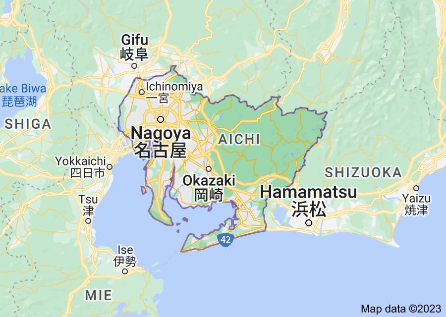 Location of Aichi Prefecture