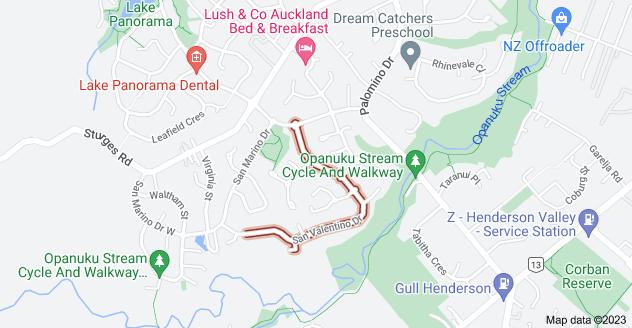 Location of San Valentino Drive
