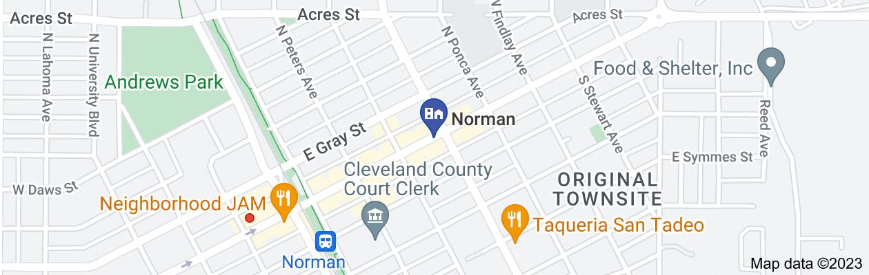 Map of private investigator norman ok