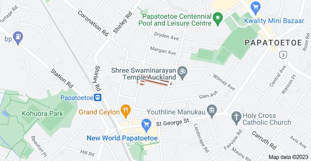 Location of Paton Avenue