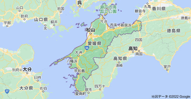 愛媛県の地図