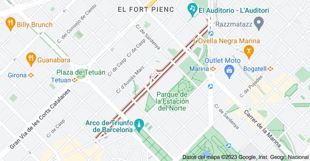 Mapa de Carrer d'Alí Bei, Barcelona, España