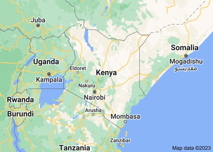 Location of Kenya