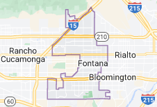 Map of Fontana, California