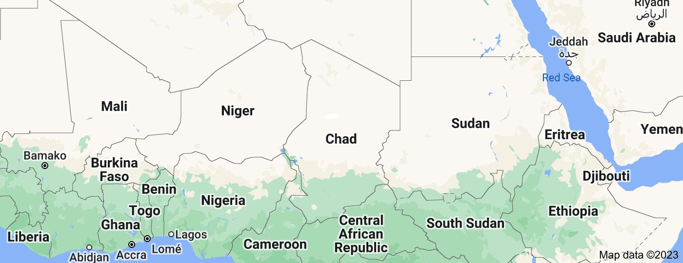 Location of Chad