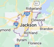 Map of Jackson, Mississippi