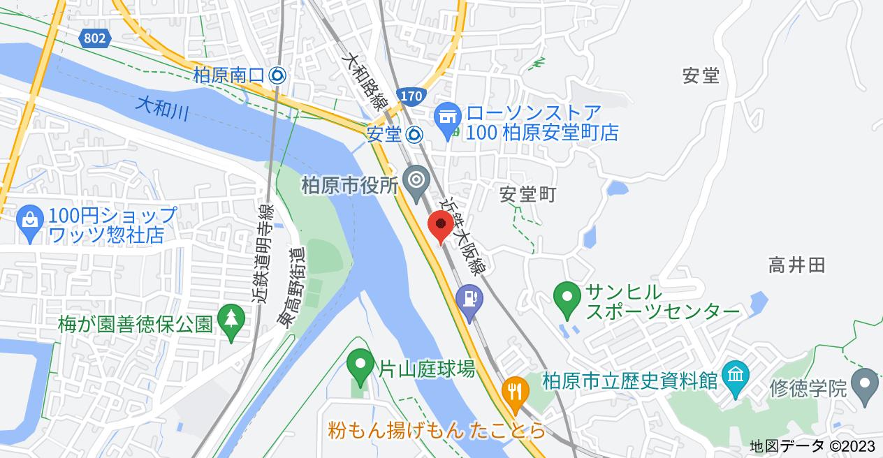 〒582-0016 大阪府柏原市安堂町1−29 大清ビルの地図