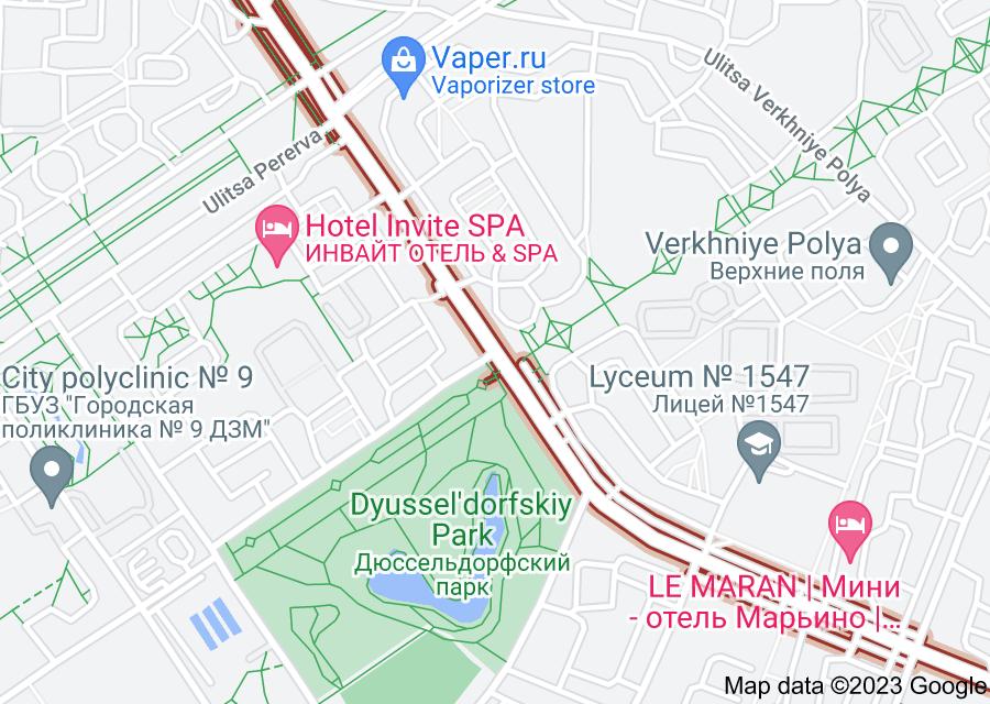 Location of Belorechenskaya Ulitsa