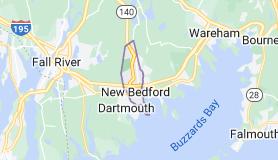 Map of New Bedford, Massachusetts