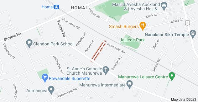Location of Cambridge Road