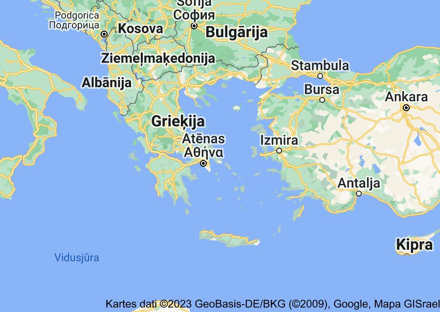 Location of Grieķija