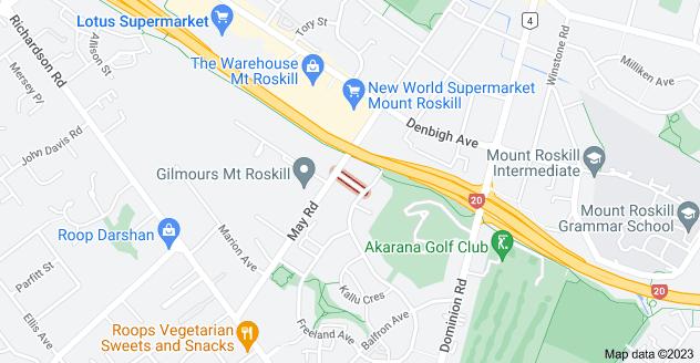 Location of Christie Street