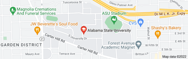 Map of Alabama State University