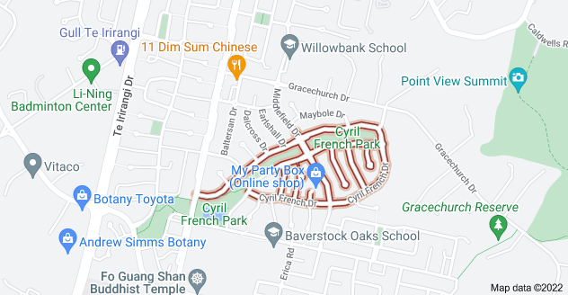 Location of Cyril French Drive
