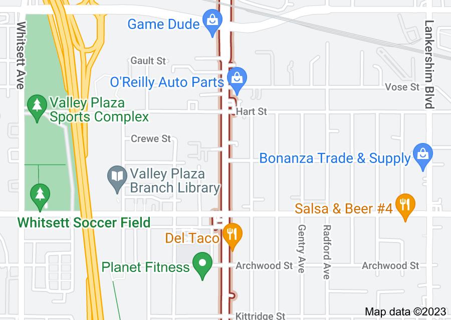 Location of Laurel Canyon Boulevard