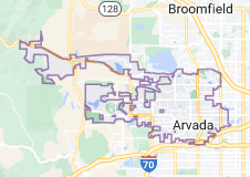 Map of Arvada, Colorado