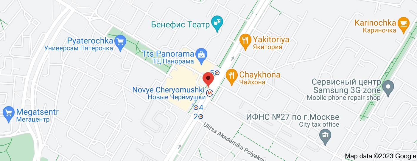 Location of Novye Cheryomushki
