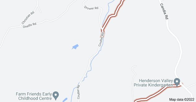 Location of Coulter Road