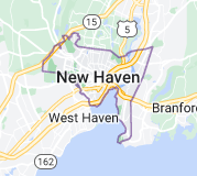 Map of New Haven, Connecticut