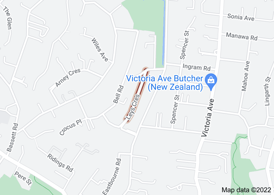 Location of Leys Crescent