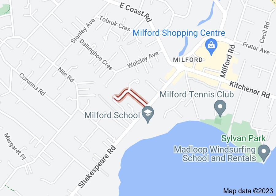 Location of Stratford Avenue