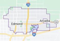 Map of Edmond, Oklahoma