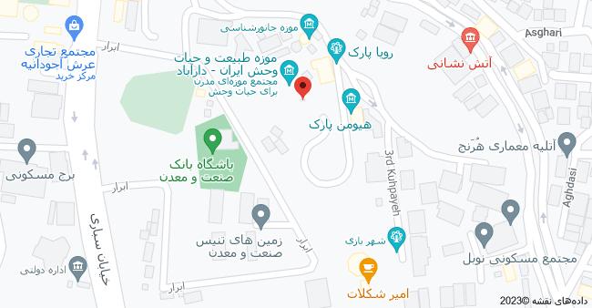 نقشه موزه دارآباد، تهران