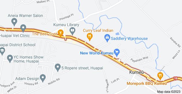 Location of Main Road