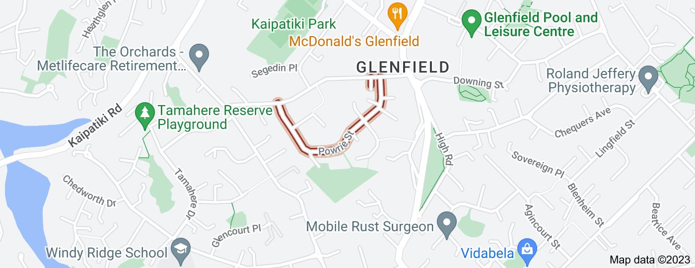 Location of Powrie Street