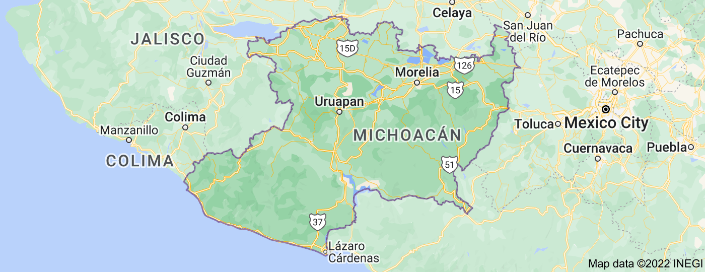 Location of Michoacán