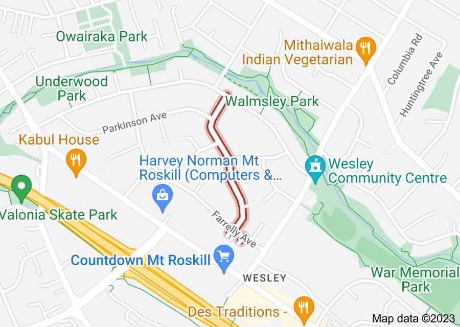 Location of Potter Avenue