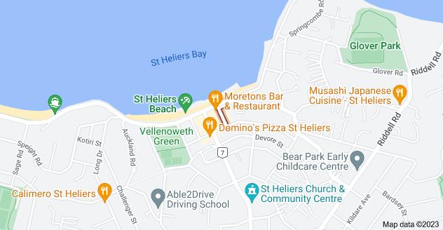 Location of Turua Street