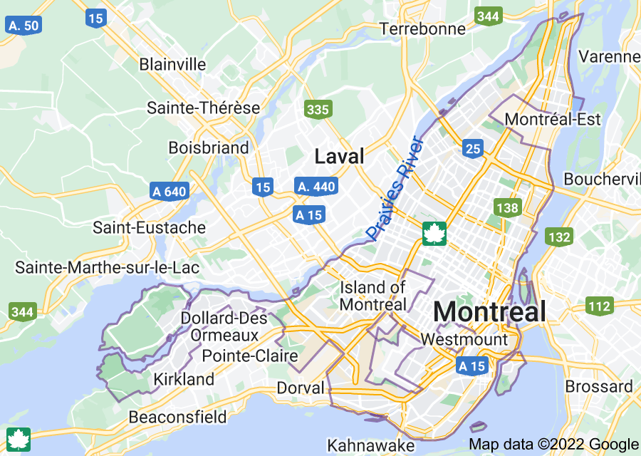 Location of Montreal