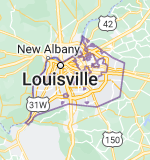 Map of Louisville, Kentucky