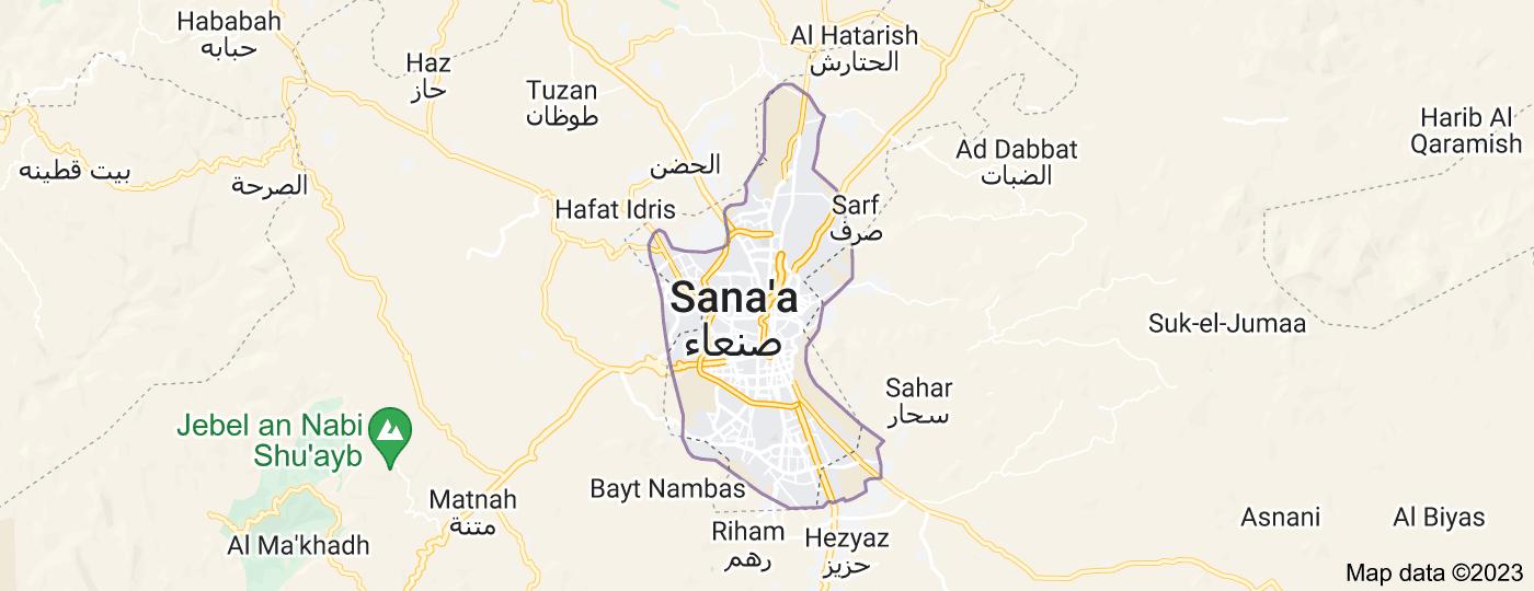 Location of Sana'a
