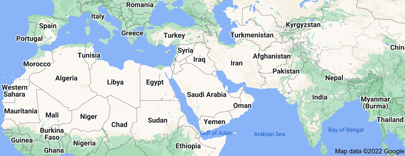 Location of Middle East
