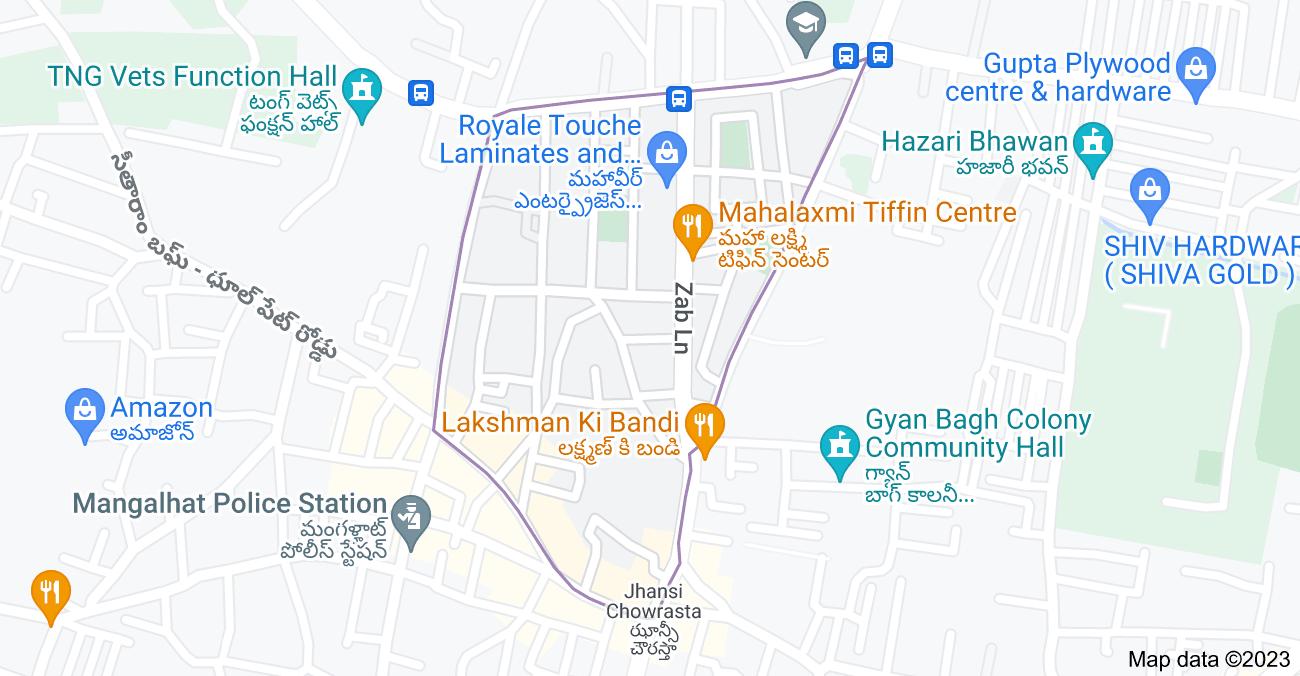 Map of Mangalhat, Hyderabad, Telangana, India