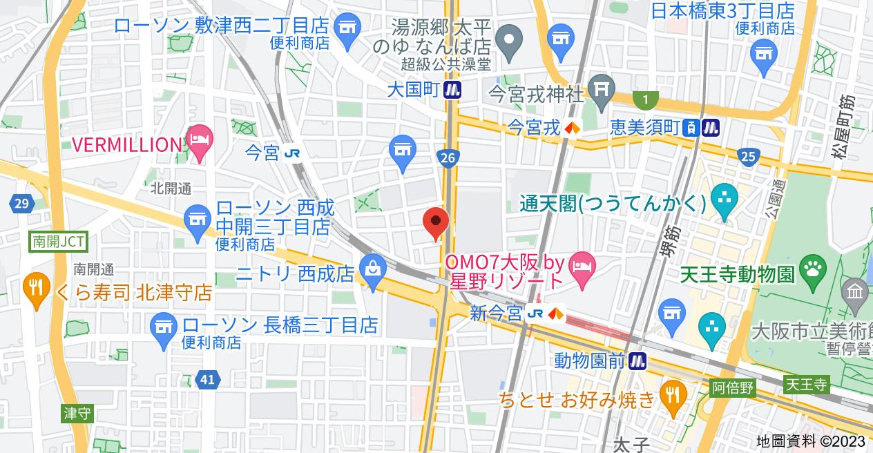 日本〒556-0014 Ōsaka-fu, Ōsaka-shi, Naniwa-ku, Daikoku, 1 Chome−12−23 ライオンズマンション難波南地圖