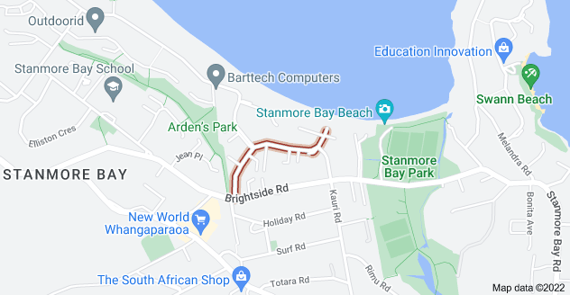 Location of Langton Road