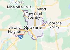 Map of Spokane, Washington