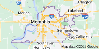Map of Memphis, Tennessee