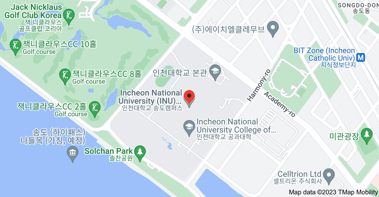Map of 119 Academy-ro, Songdo 1(il)-dong, Yeonsu-gu, Incheon