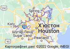 Location of Х'юстон