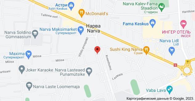 Kreenholmi 4, 21008 Narva: карта