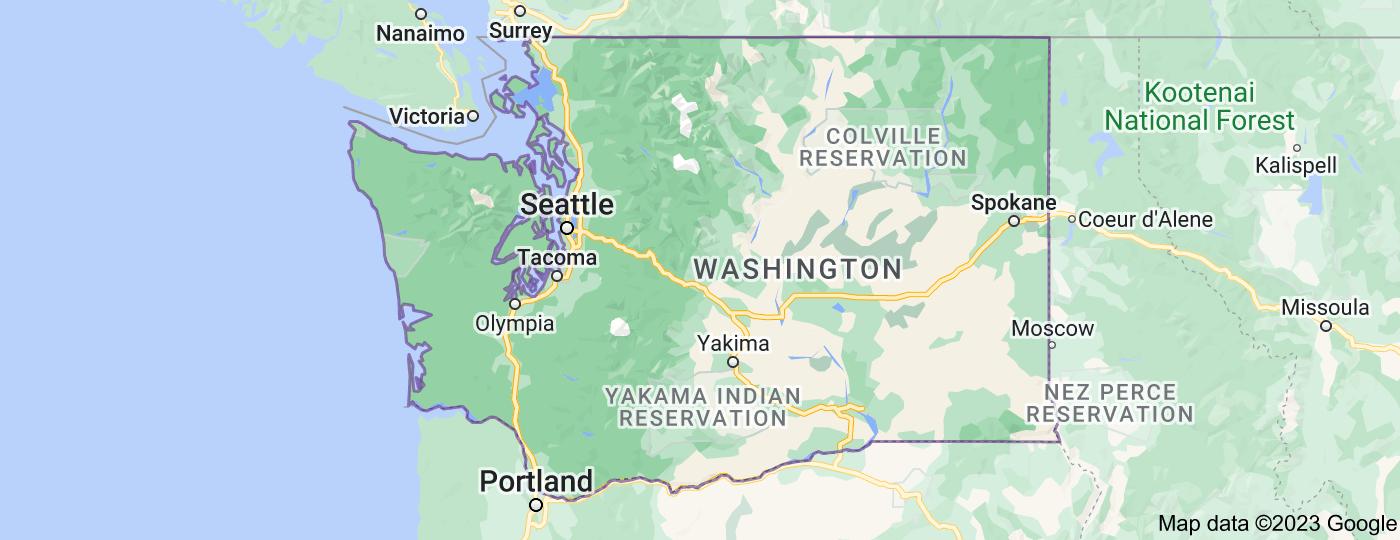 Location of Washington
