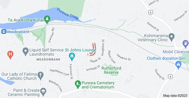 Location of Cruickshank Crescent