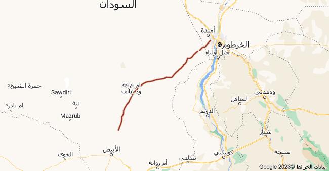 خريطة طريق الاربعين (امدرمان بارا الابيض), السودان