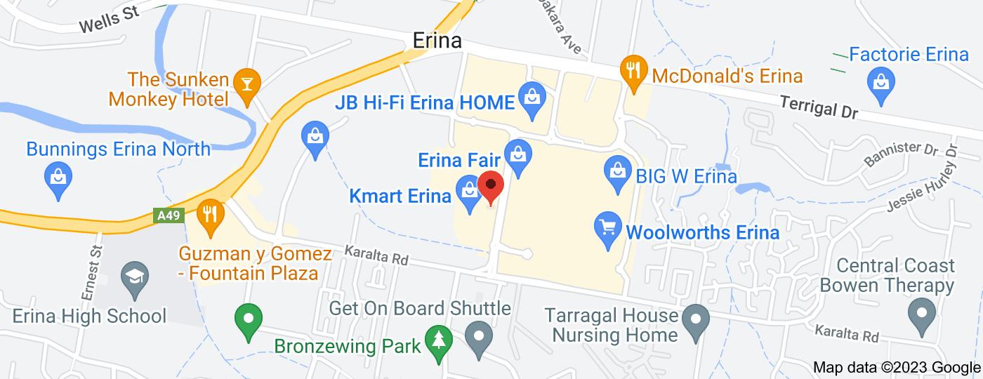 Location of Priceline Erina Fair